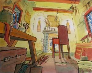 The sorcerer's room